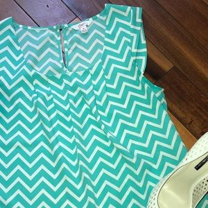 Candie's Tops - Candies Teal & White Blouse